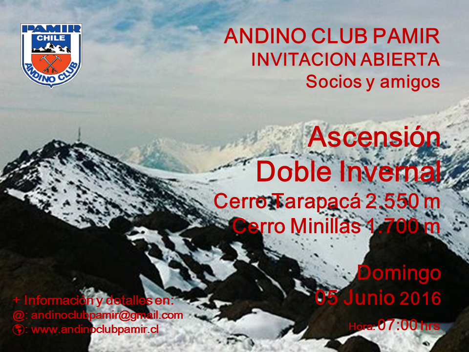 Ascensión Doble - Co. Tarapaca y Minillas - 05 de Junio 2016